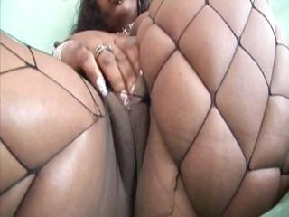 Phat ebony with a big ass is getting pounded by a white cock